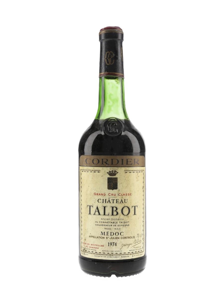 Chateau Talbot 1974 Grand Cru Classe - Saint Julien 73cl