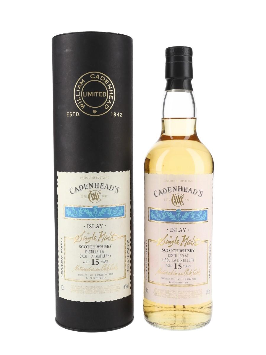 Caol Ila 1991 15 Year Old Bottled 2006 - Cadenhead's 70cl / 46%