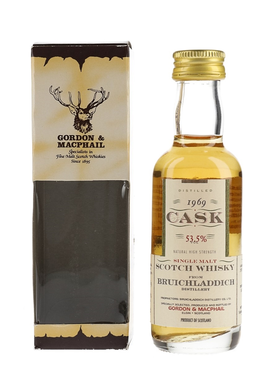Bruichladdich 1969 Cask Strength Bottled 1999 - Gordon & MacPhail 5cl / 53.5%