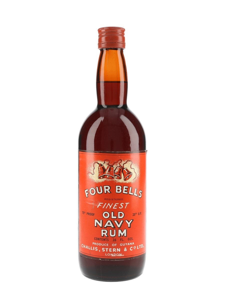 Four Bells Navy Rum Bottled 1960s-1970s - Challis Stern & Co. 74cl / 43%