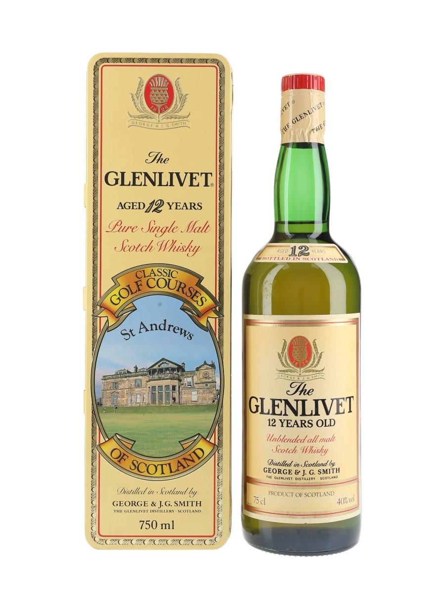 Glenlivet 12 Year Old Bottled 1980s - Classic Golf Courses St Andrews 75cl / 40%