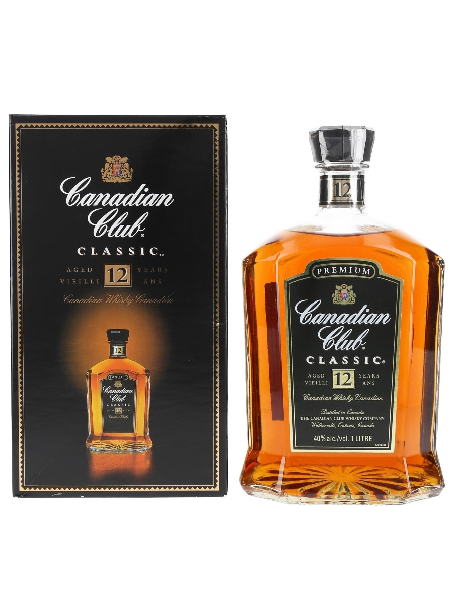 Canadian Club Classic 12 Year Old Bottled 2000s 100cl / 40%
