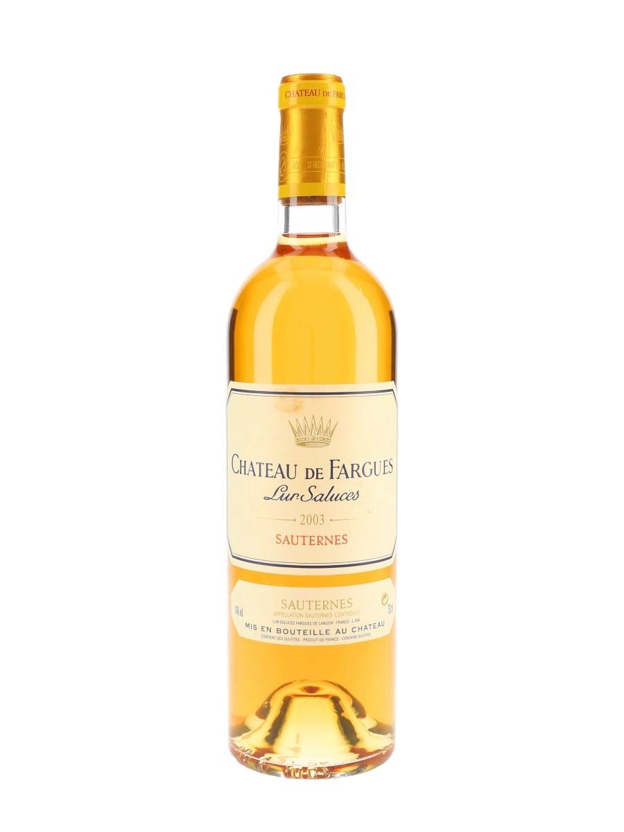 Chateau De Fargues 2003 Sauternes 75cl / 14%