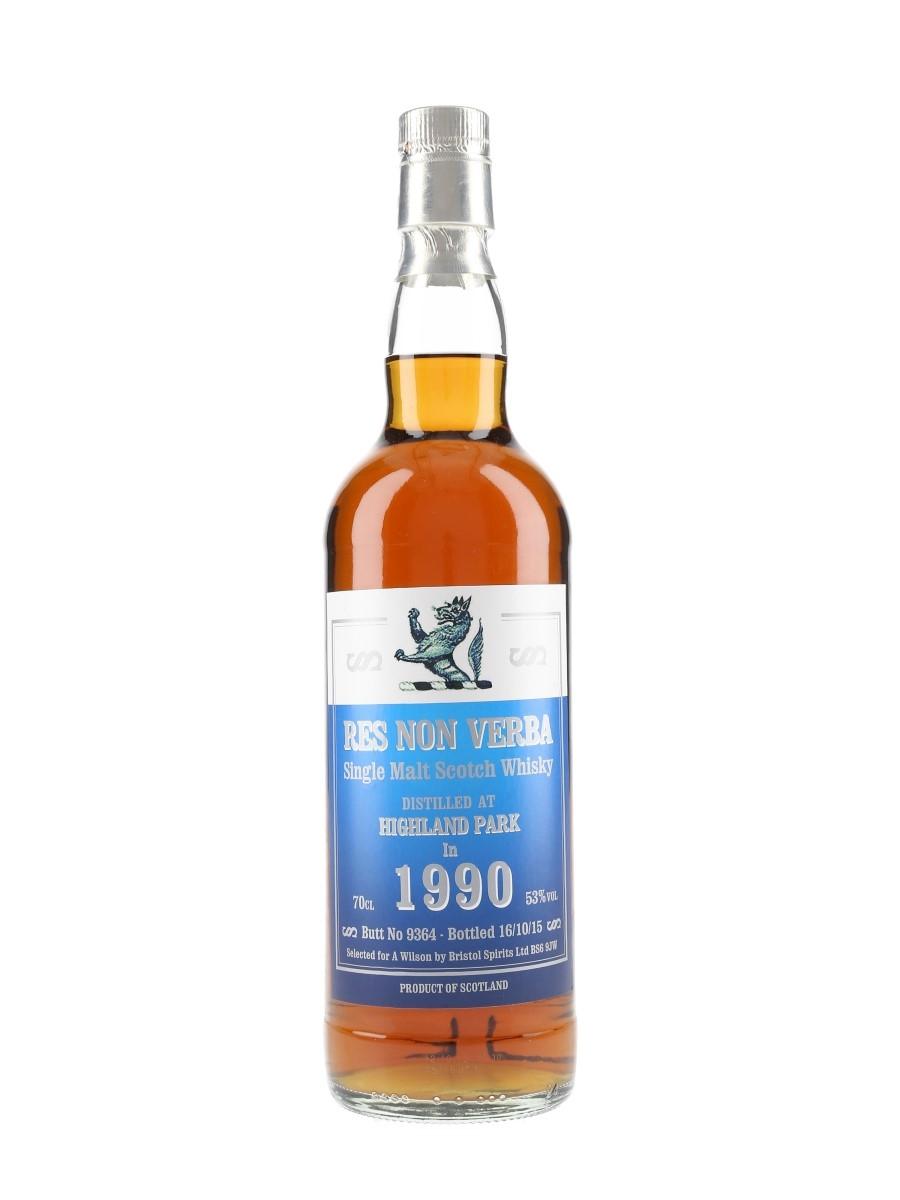 Highland Park 1990 Res Non Verba Bottled 2015 - Bristol Spirits 70cl / 53%