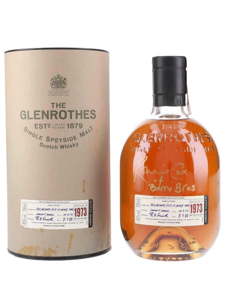 Glenrothes 1973 Bottled 2000 - Signed Bottle 70cl / 43%