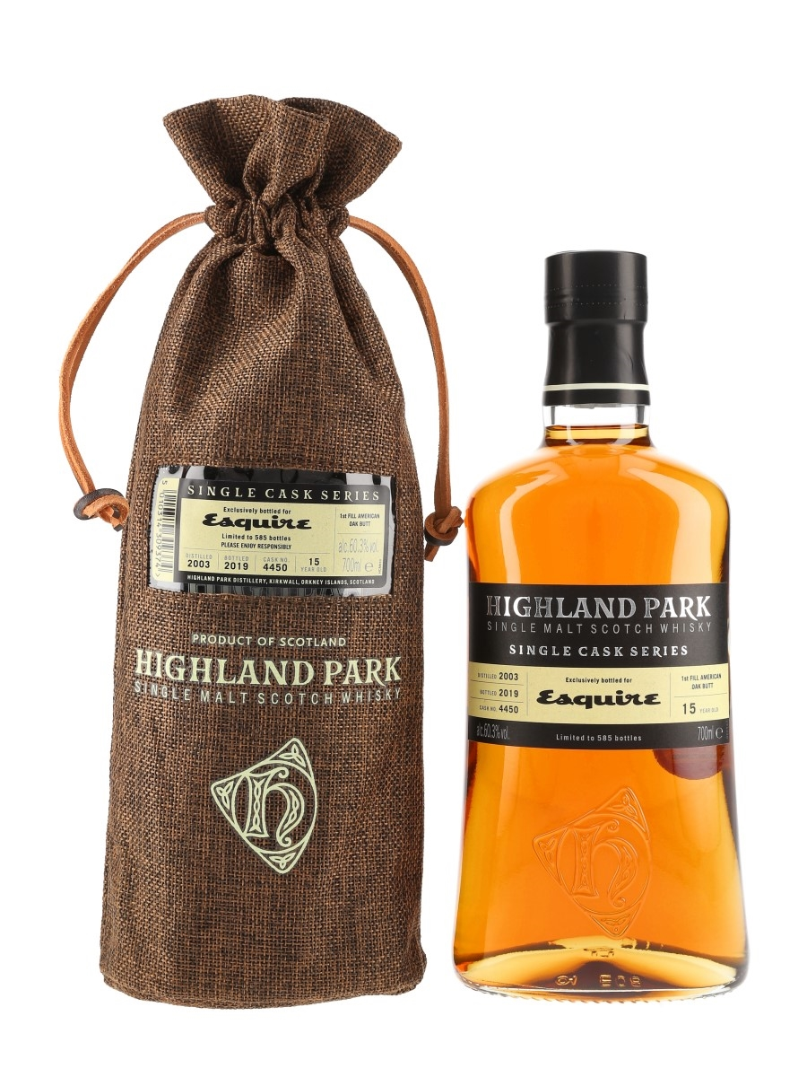 Highland Park 2003 15 Year Old Single Cask 4450 Bottled 2019 - Esquire 70cl / 60.3%