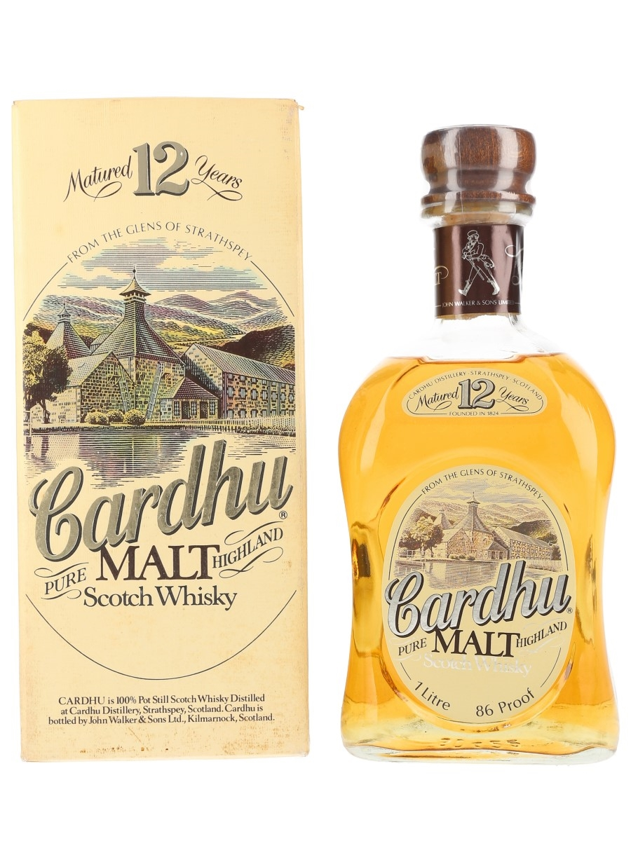 Cardhu 12 Year Old Bottled 1980s - Duty Free 100cl / 43%