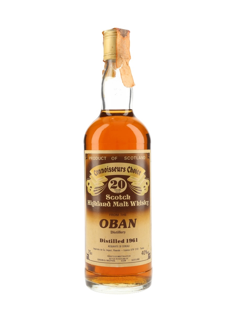 Oban 1961 20 Year Old Gordon & MacPhail - Connoisseurs Choice 75cl / 40%