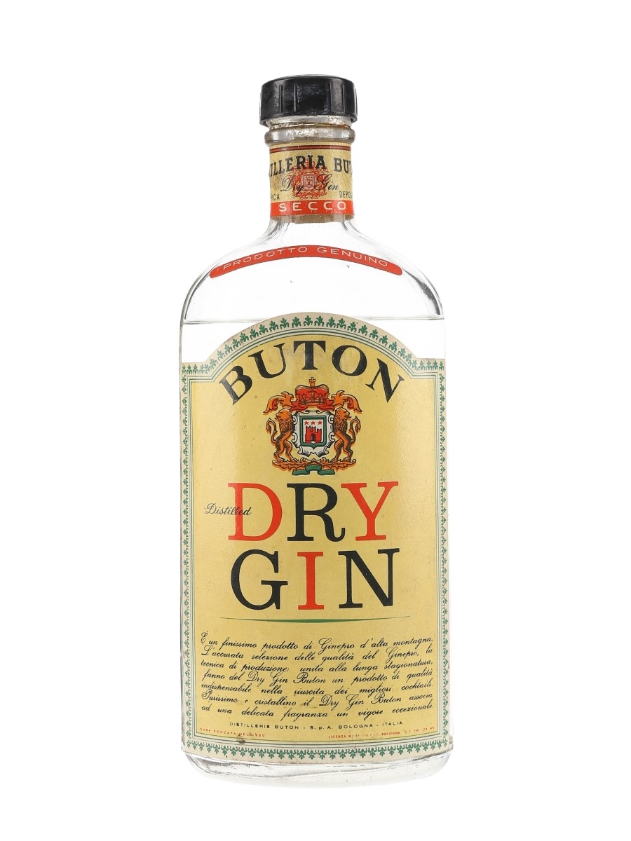 Buton Dry Gin Bottled 1950s 75cl / 45%