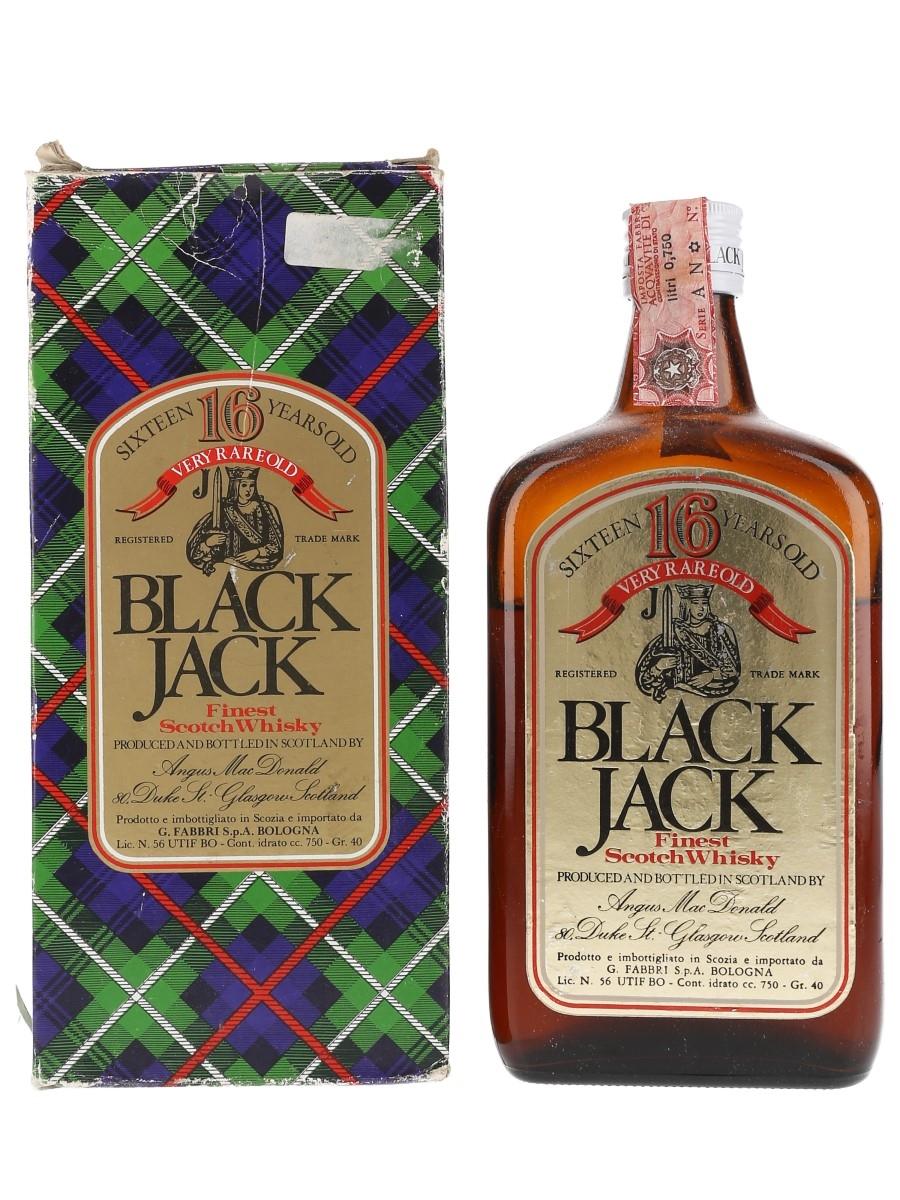Black Jack 16 Year Old Bottled 1980s - Fabbri 75cl / 40%