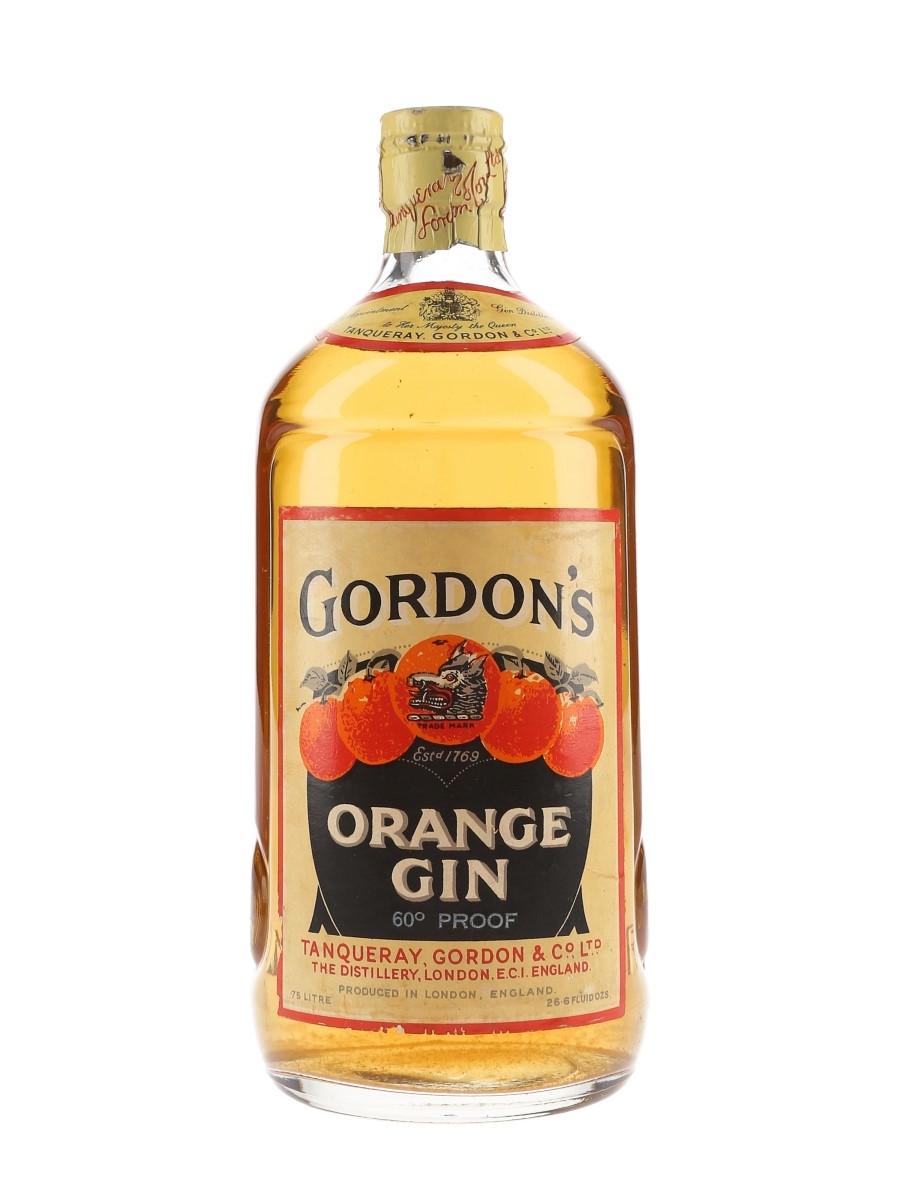 Gordon's Orange Gin Spring Cap Bottled 1950s 75cl