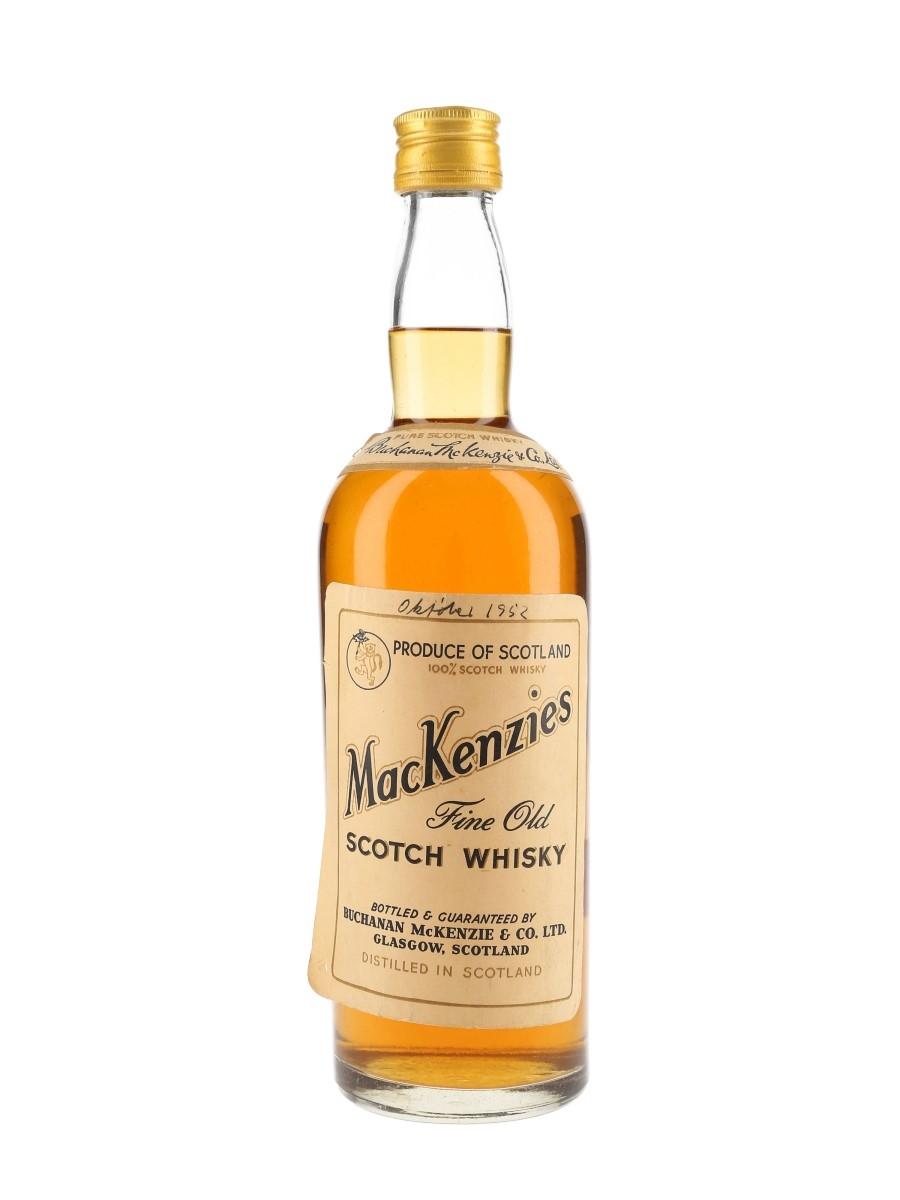MacKenzie's Fine Old Bottled 1950s - Buchanan McKenzie & Co. 75cl