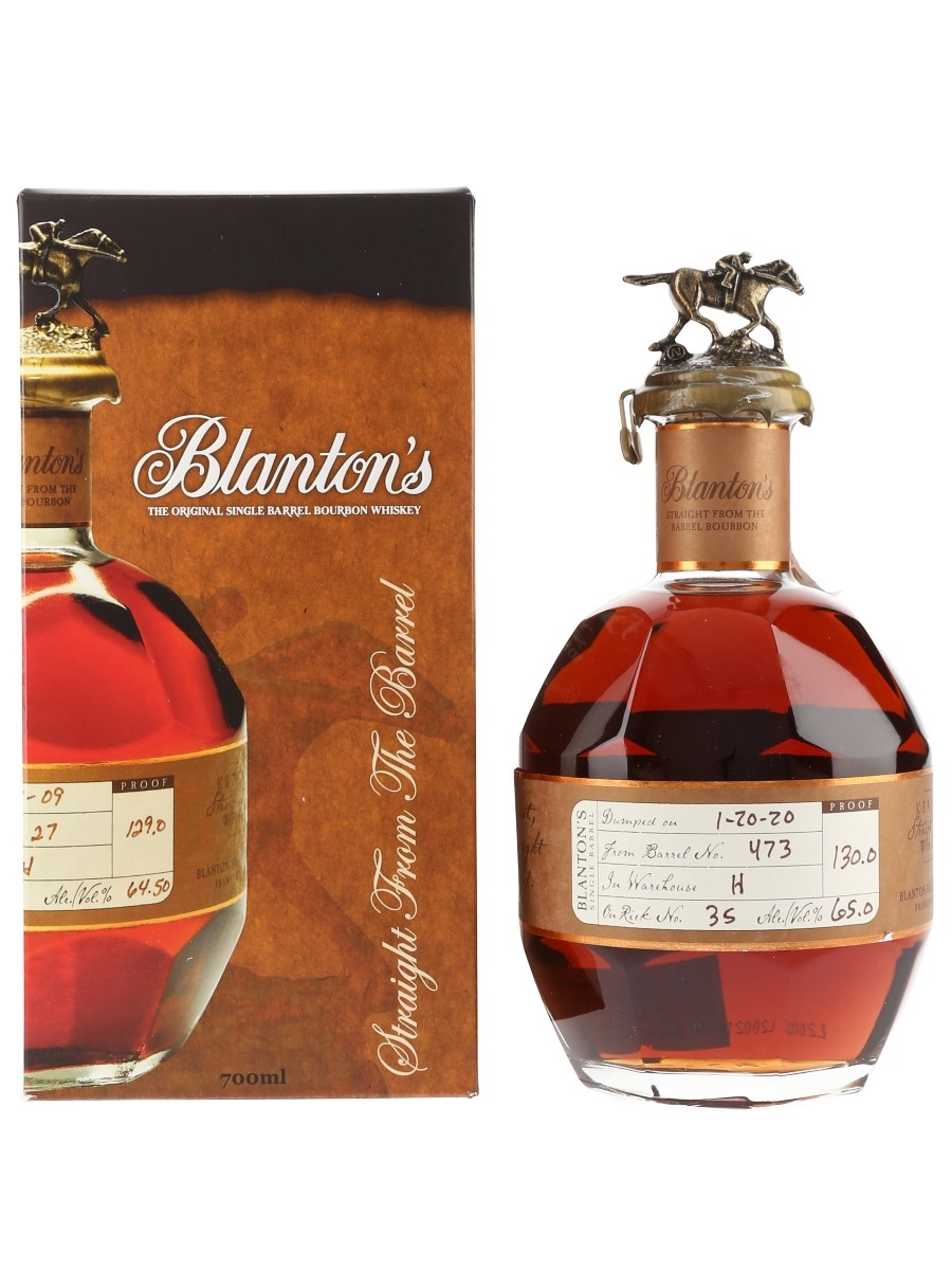 Blanton's Straight From The Barrel No. 473 Bottled 2020 70cl / 65%