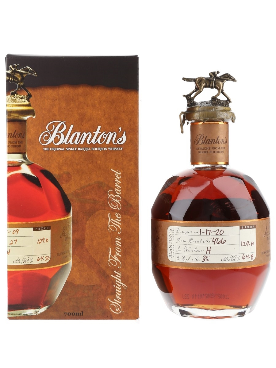 Blanton's Straight From The Barrel No. 466 Bottled 2020 70cl / 64.8%