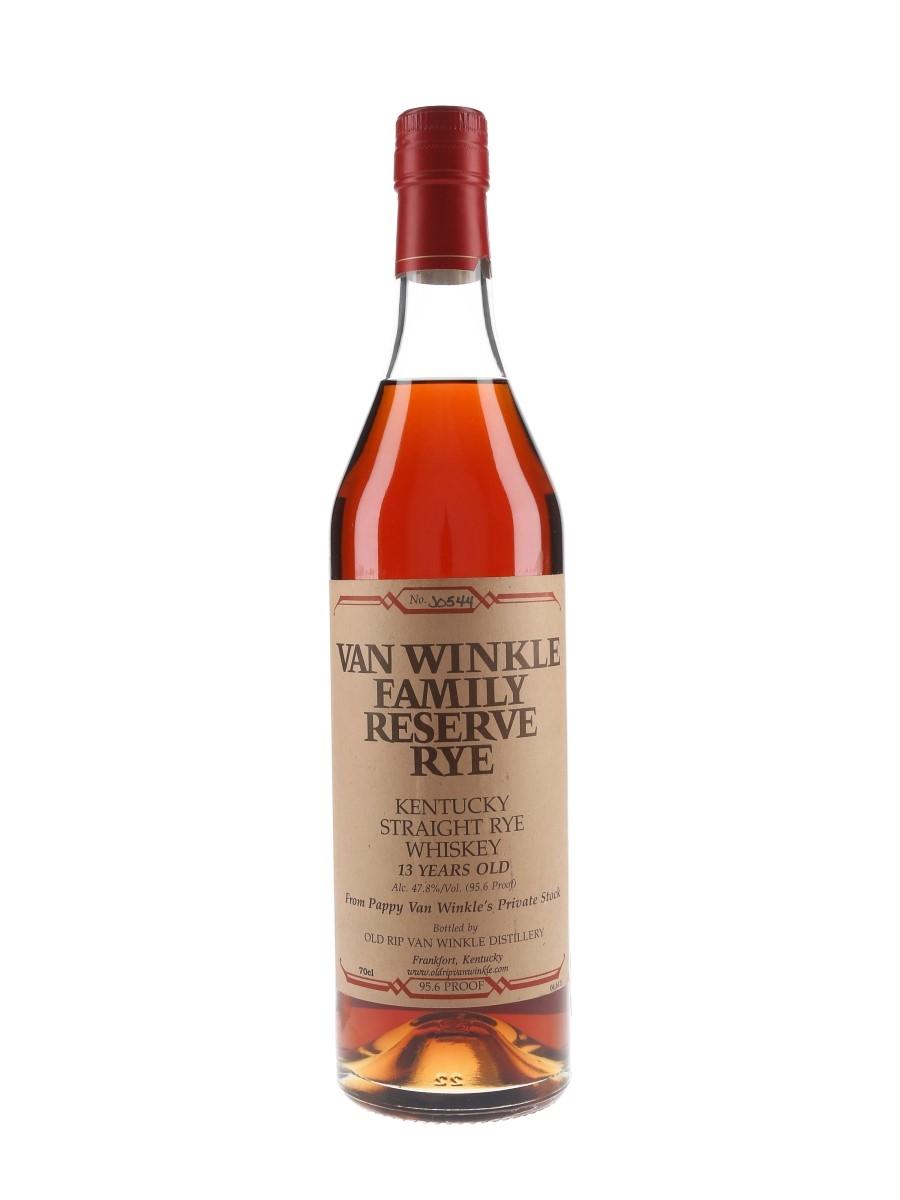 Van Winkle 13 Year Old Family Reserve Rye Bottled 2009 70cl / 47.8%