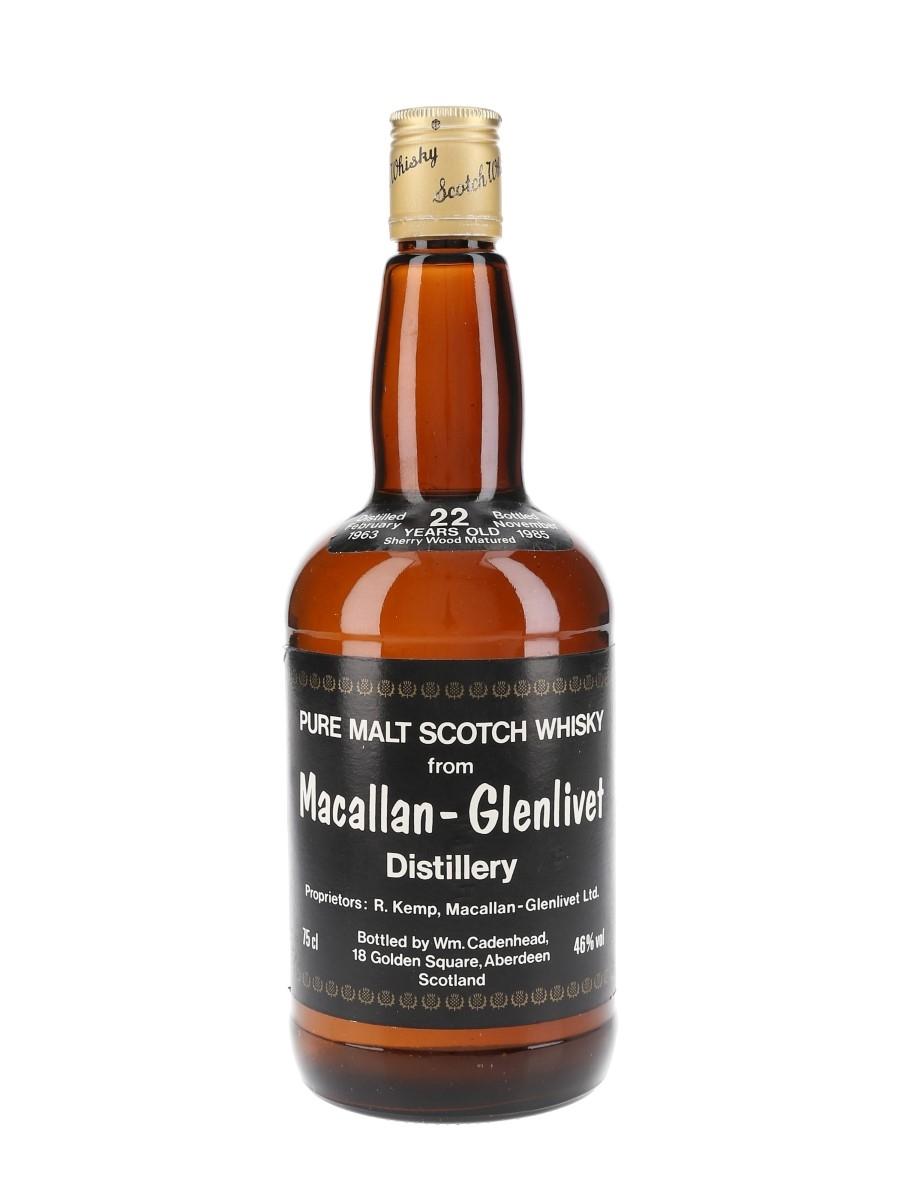 Macallan Glenlivet 1963 22 Year Old Bottled 1985 - Cadenhead's 'Dumpy' 75cl / 46%