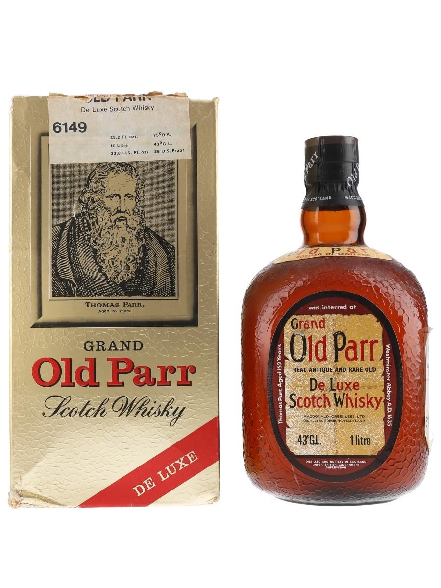 Grand Old Parr De Luxe Bottled 1970s - Duty Free 100cl / 43%