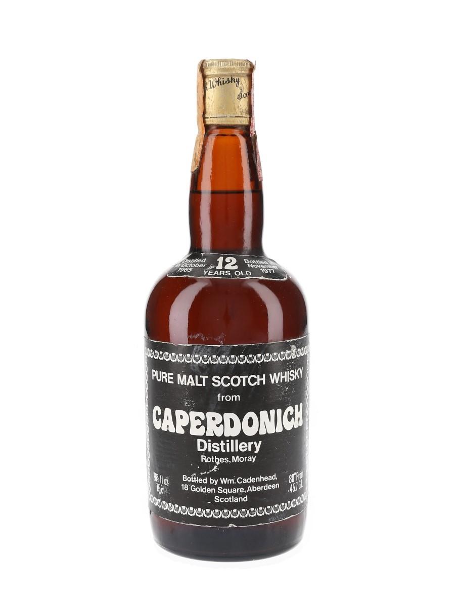 Caperdonich 1965 12 Year Old Bottled 1977 - Cadenhead's 'Dumpy' 75cl / 45.7%