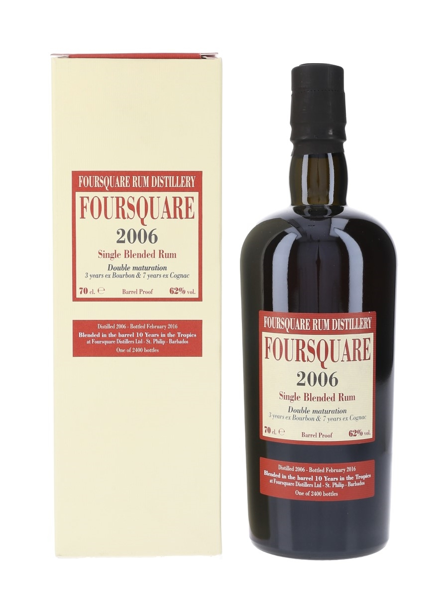 Foursquare 2006 10 Year Old Single Blended Rum Bottled 2016 - Velier 70cl / 62%