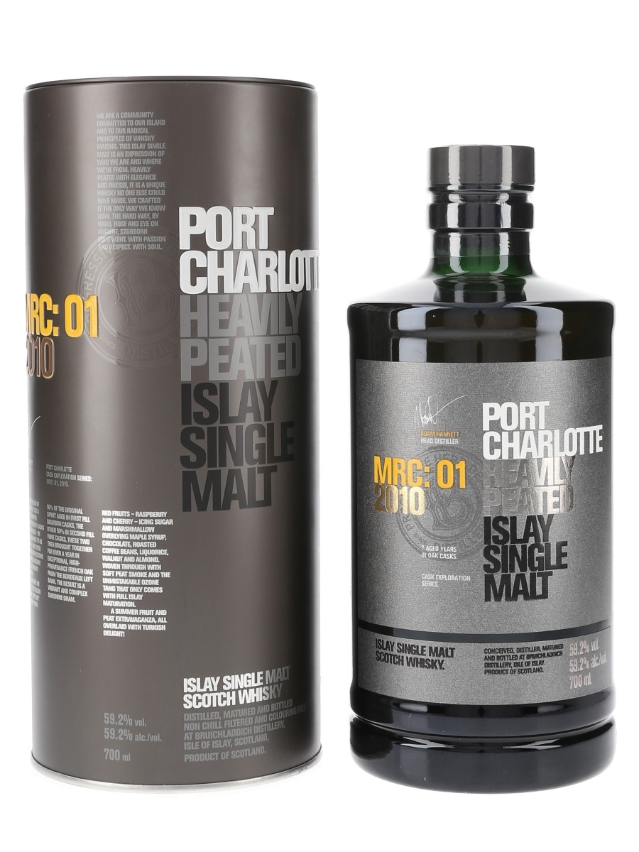 Port Charlotte 2010 MRC:01 7 Year Old Bottled 2018 - Cask Exploration Series 70cl / 59.2%