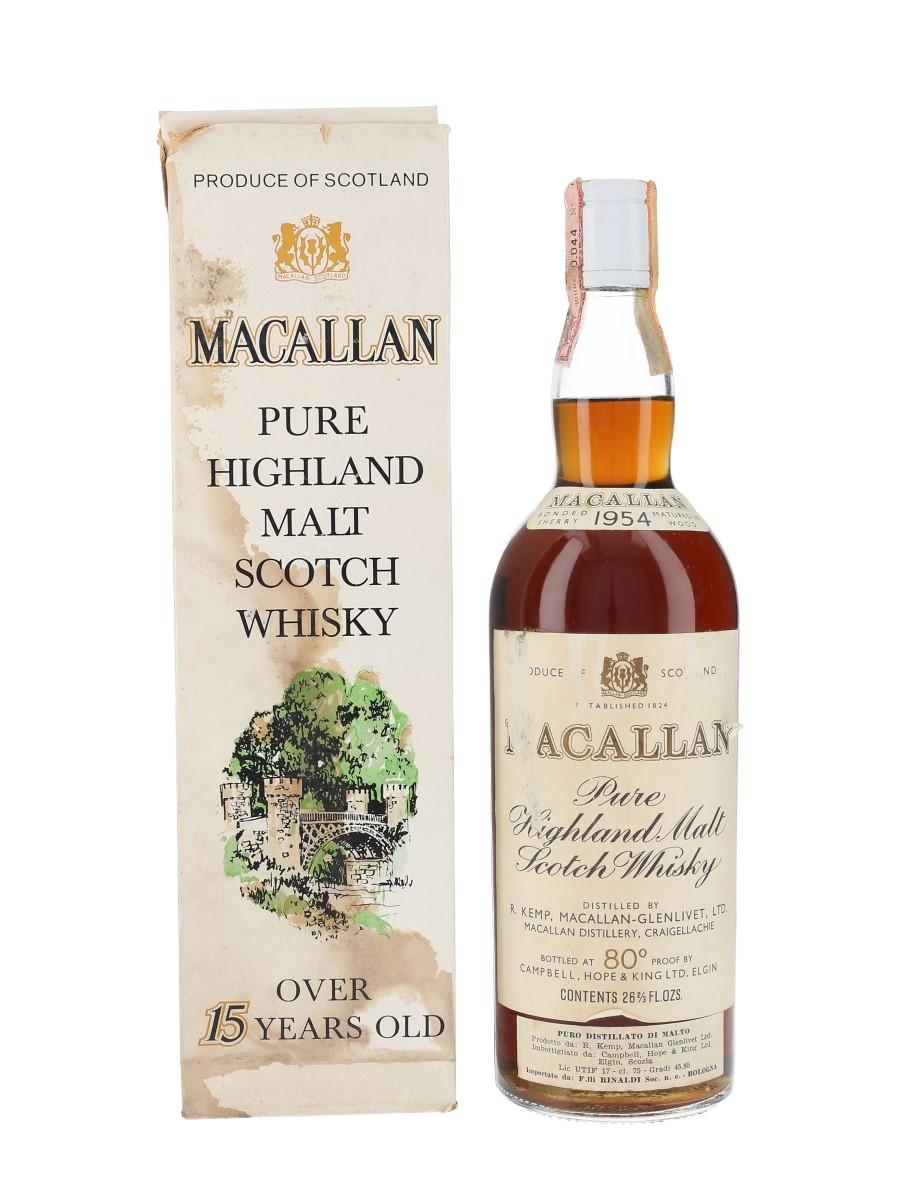 Macallan 1954 Campbell, Hope & King Bottled 1970s - Rinaldi 75cl / 45.85%