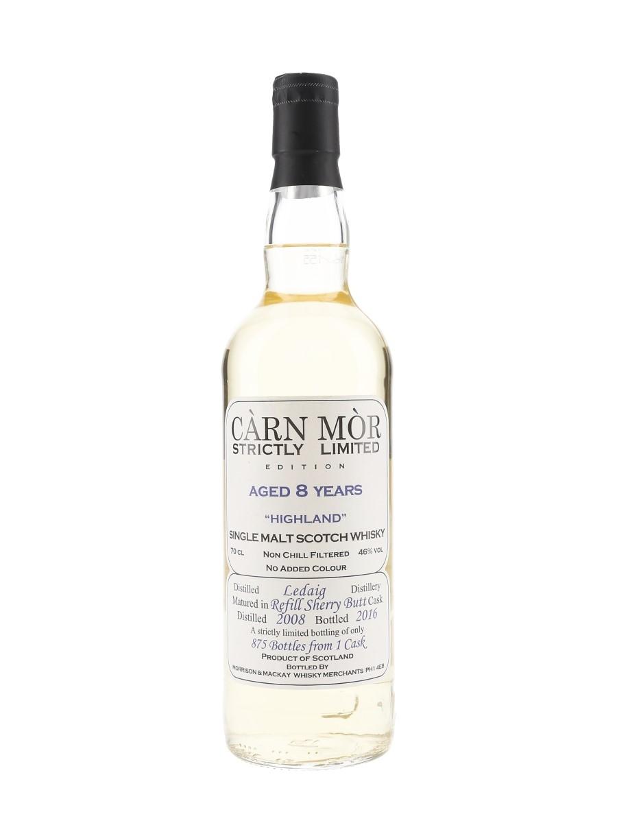 Ledaig 2008 8 Year Old Bottled 2016 - Carn Mor Strictly Limited 70cl / 46%