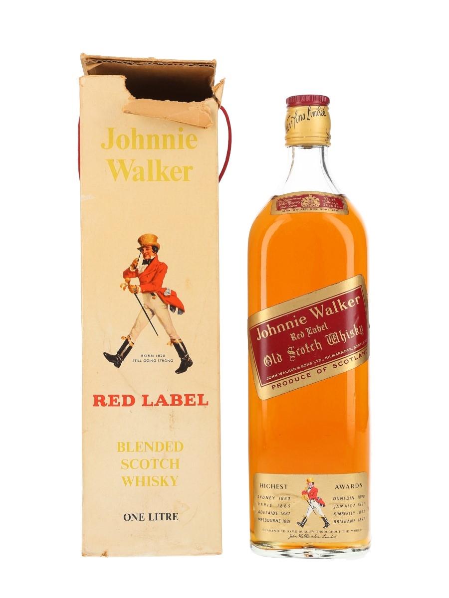 Johnnie Walker Red Label Bottled 1970s 100cl