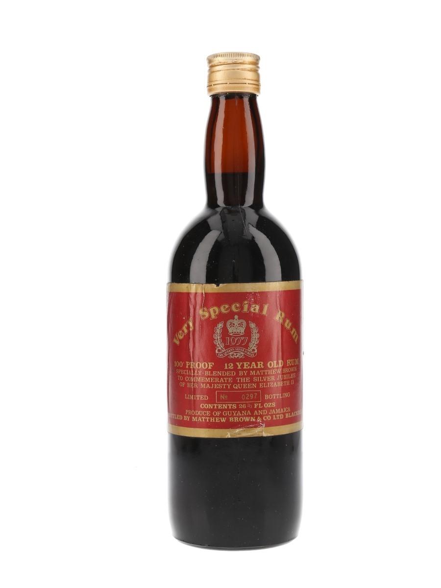 Matthew Brown & Co. 12 Year Old 100 Proof Very Special Rum Queen Elizabeth II Silver Jubilee 1977 75.7cl / 57.1%