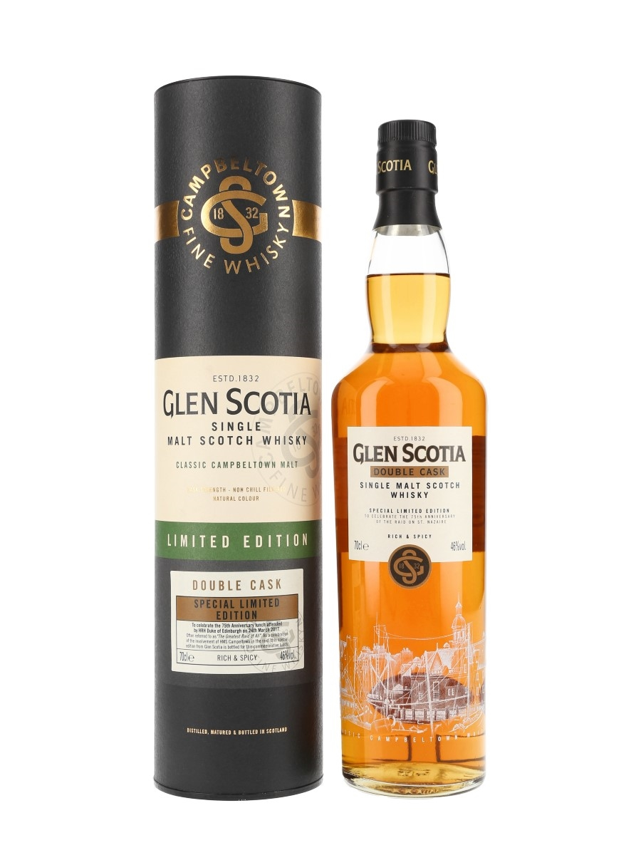 Glen Scotia Double Cask Special Limited Edition Bottled 2017 - 75th Anniversary of the Raid on St. Nazaire 70cl / 46%