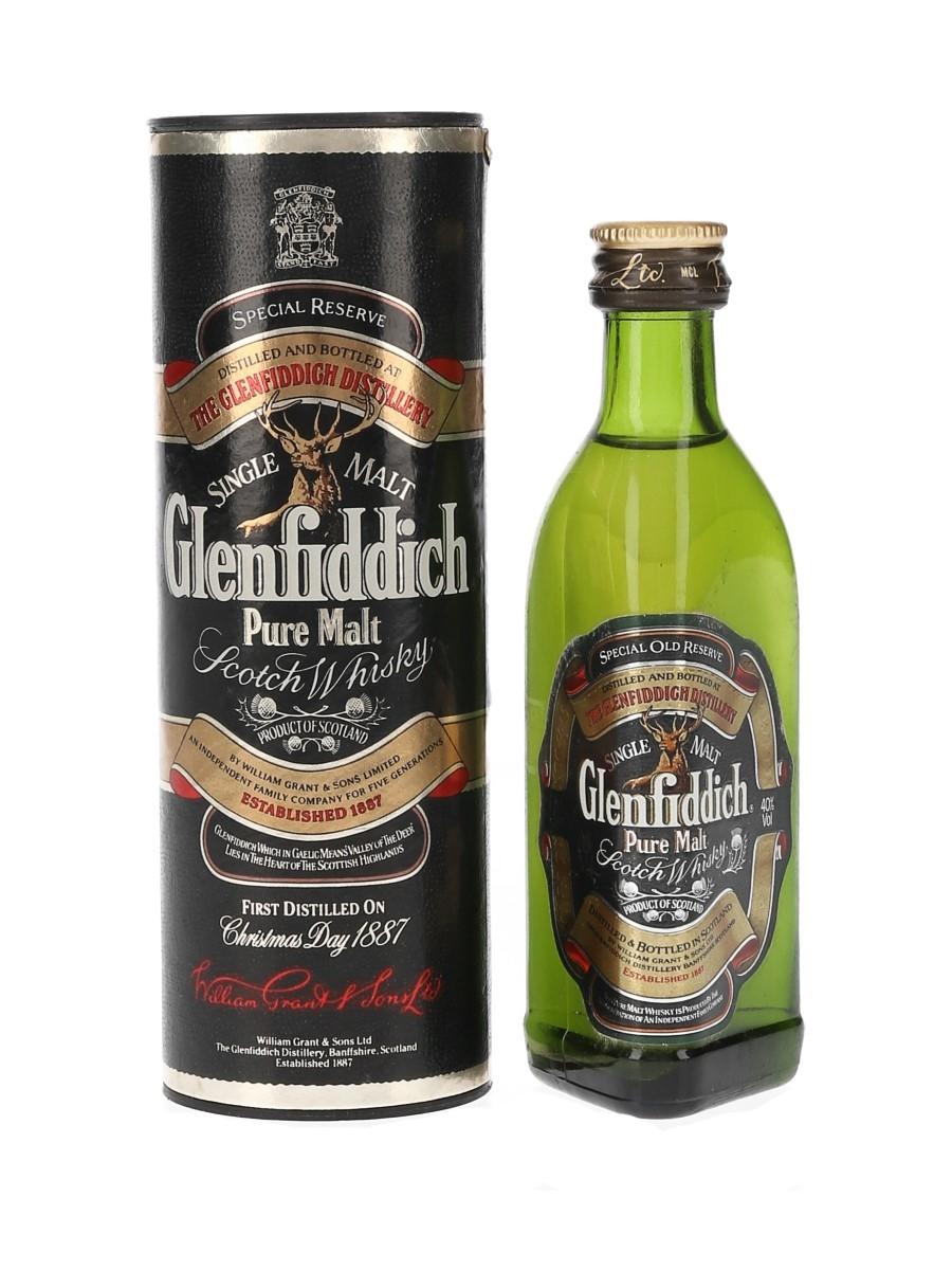 Glenfiddich Pure Malt Bottled 1980s-1990s 5cl / 40%