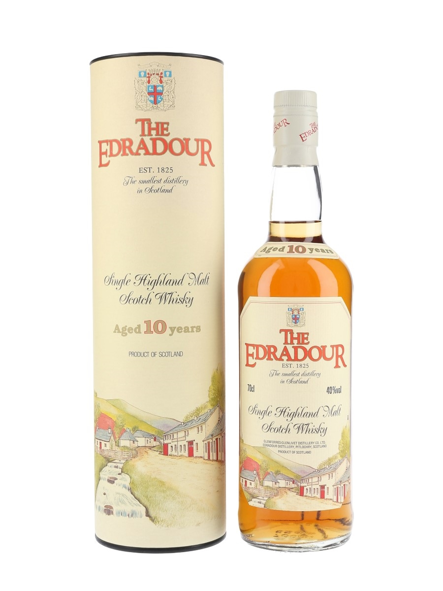 Edradour 10 Year Old Bottled 1990s - Includes Edradour Poster 70cl / 40%
