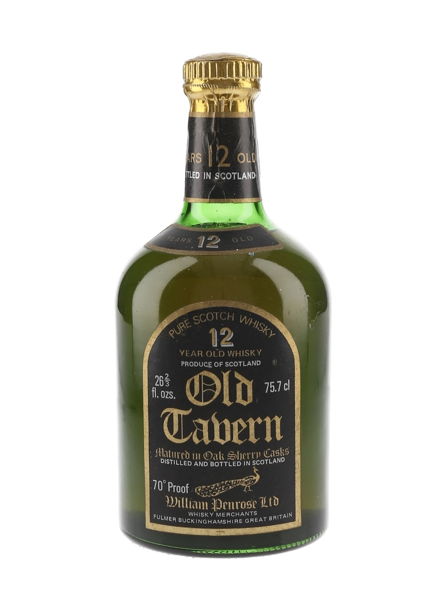 Old Tavern 12 Year Old Sherry Cask Bottled 1970s - William Penrose Ltd. 75.7cl / 40%