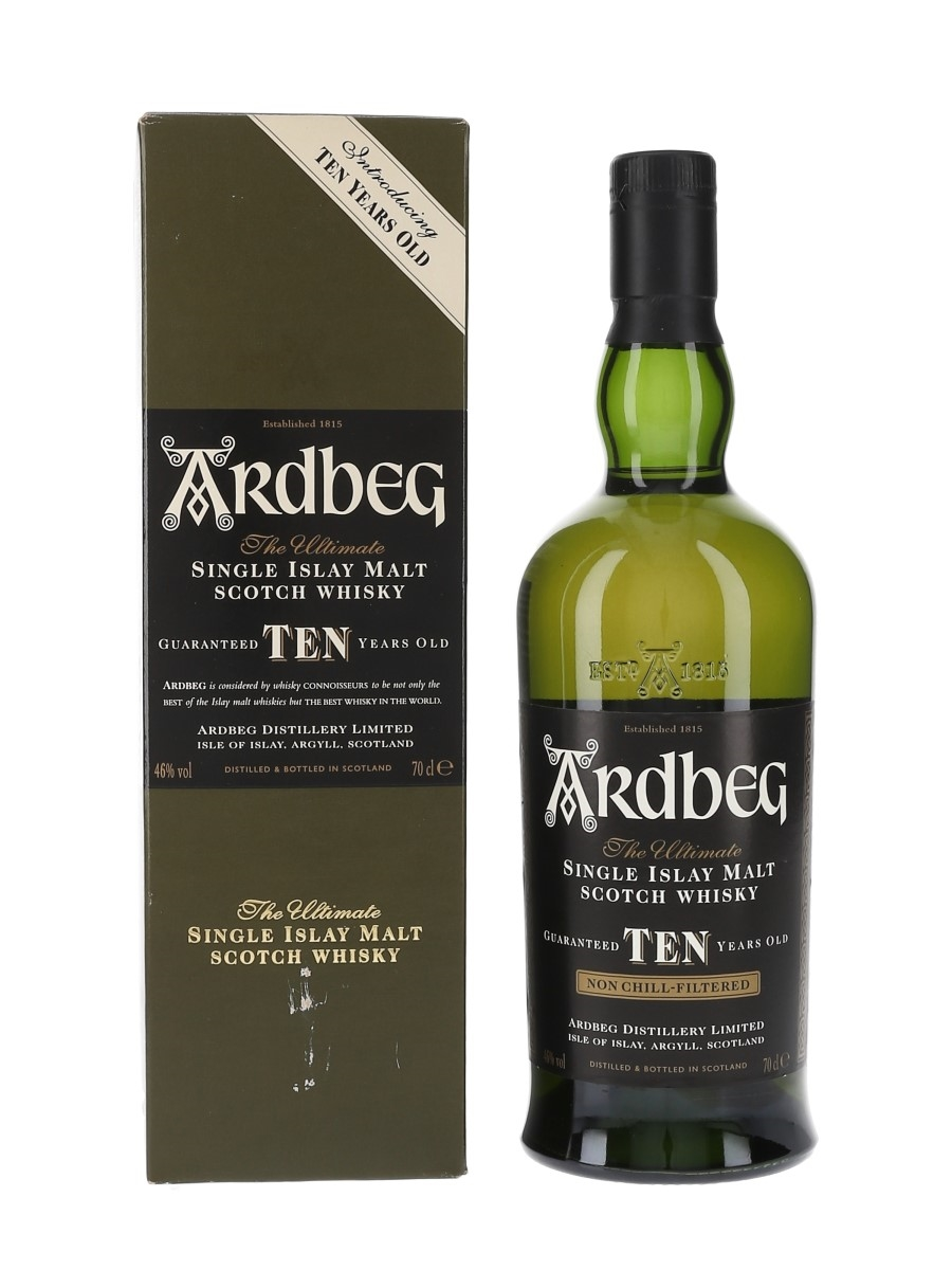 Ardbeg 10 Year Old Bottled 2000 - Introducing Ten Years Old 70cl / 46%