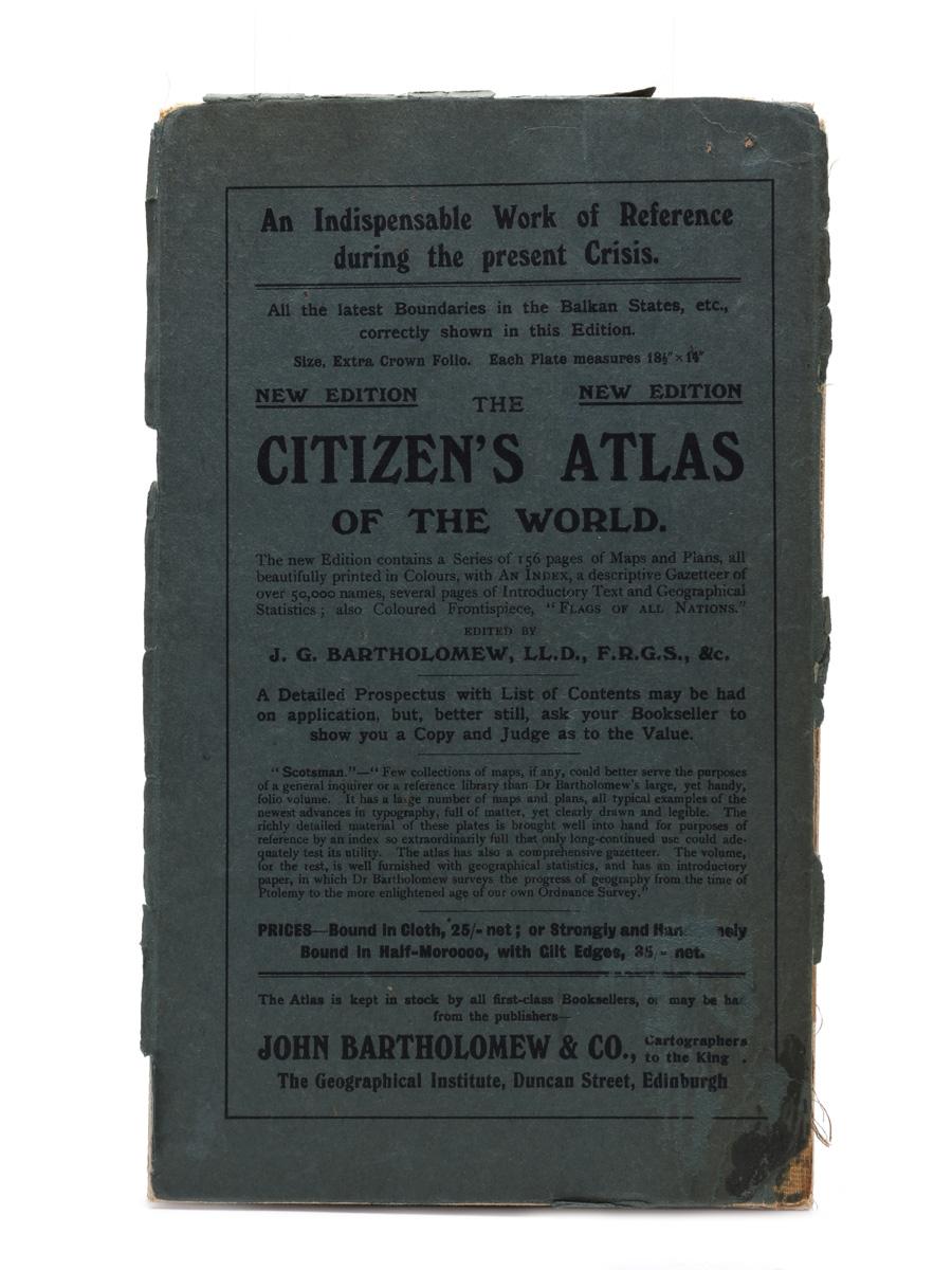 Dailuaine Talisker Distilleries Ltd. The Citizens Atlas Of The World World War I Era 83cm x 67cm