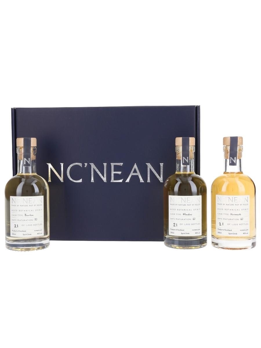 Nc'nean Aged Botanical Spirit Bourbon, Mondino, Vermouth Casks 3 x 20cl / 40%