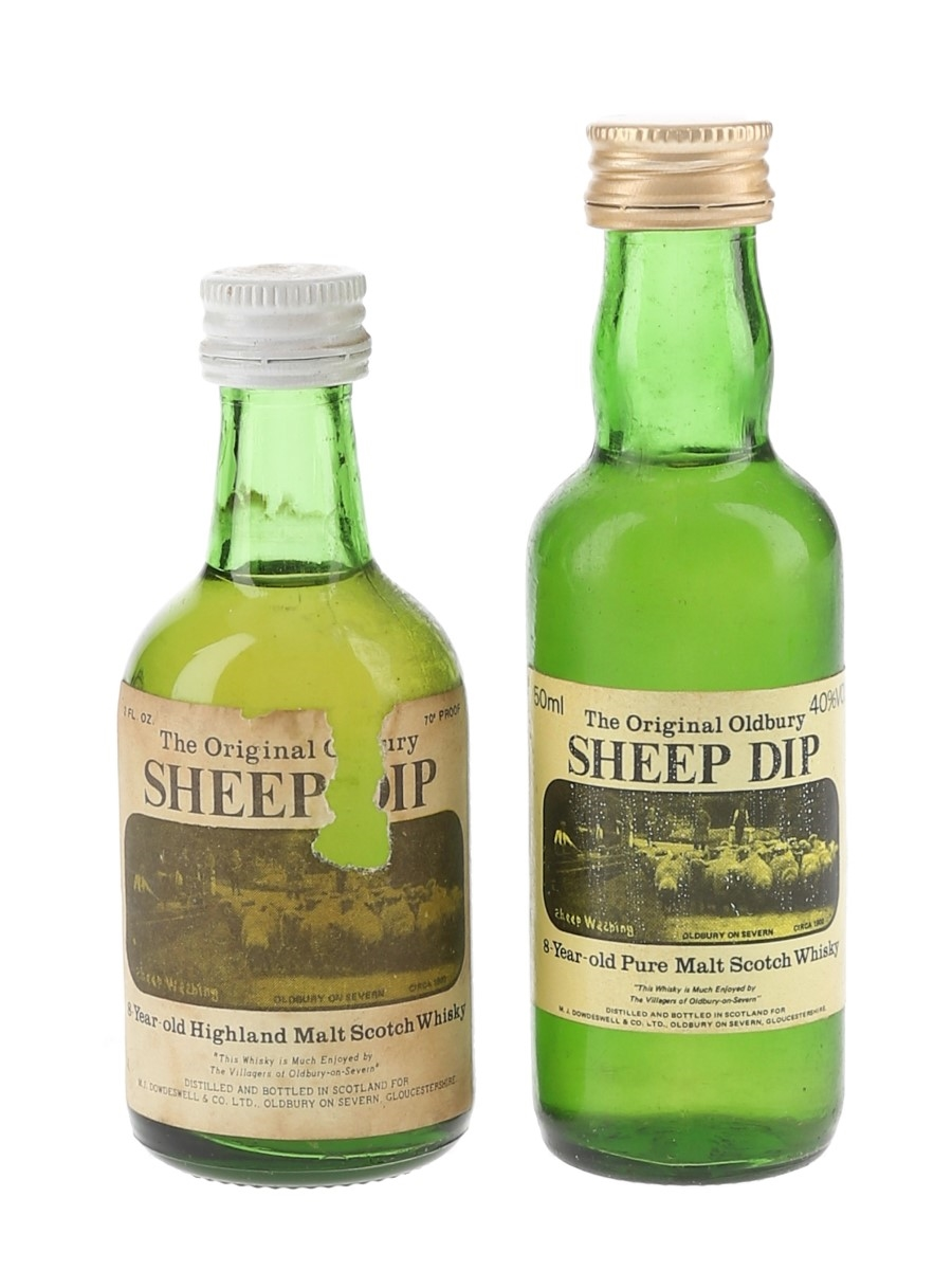 Sheep Dip 8 Year Old Bottled 1970s & 1980s 2 x 5cl / 40%