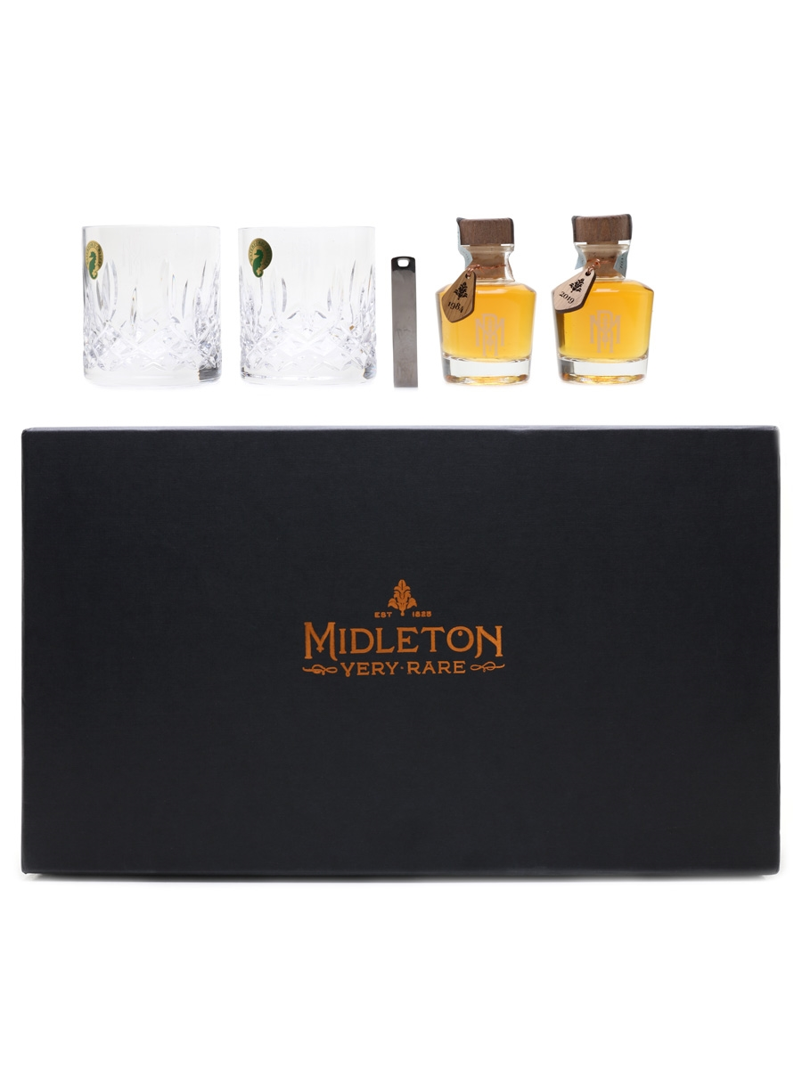 Midleton Very Rare Sample Pack 1984 & 2019 - Waterford Crystal 2 x 5cl / 40%