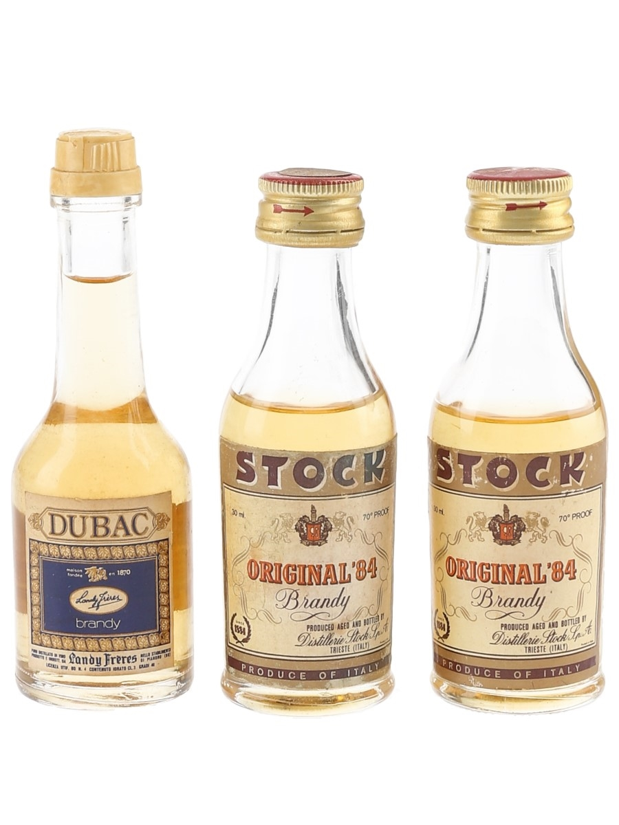 Stock 84 & Landy Freres Dubac Bottled 1970s 3 x 3cl-4cl / 40%