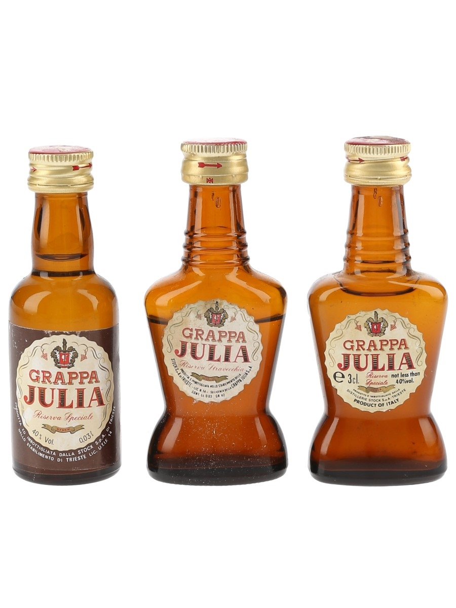 Stock Julia Grappa Riserva Stravecchia  3 x 3cl