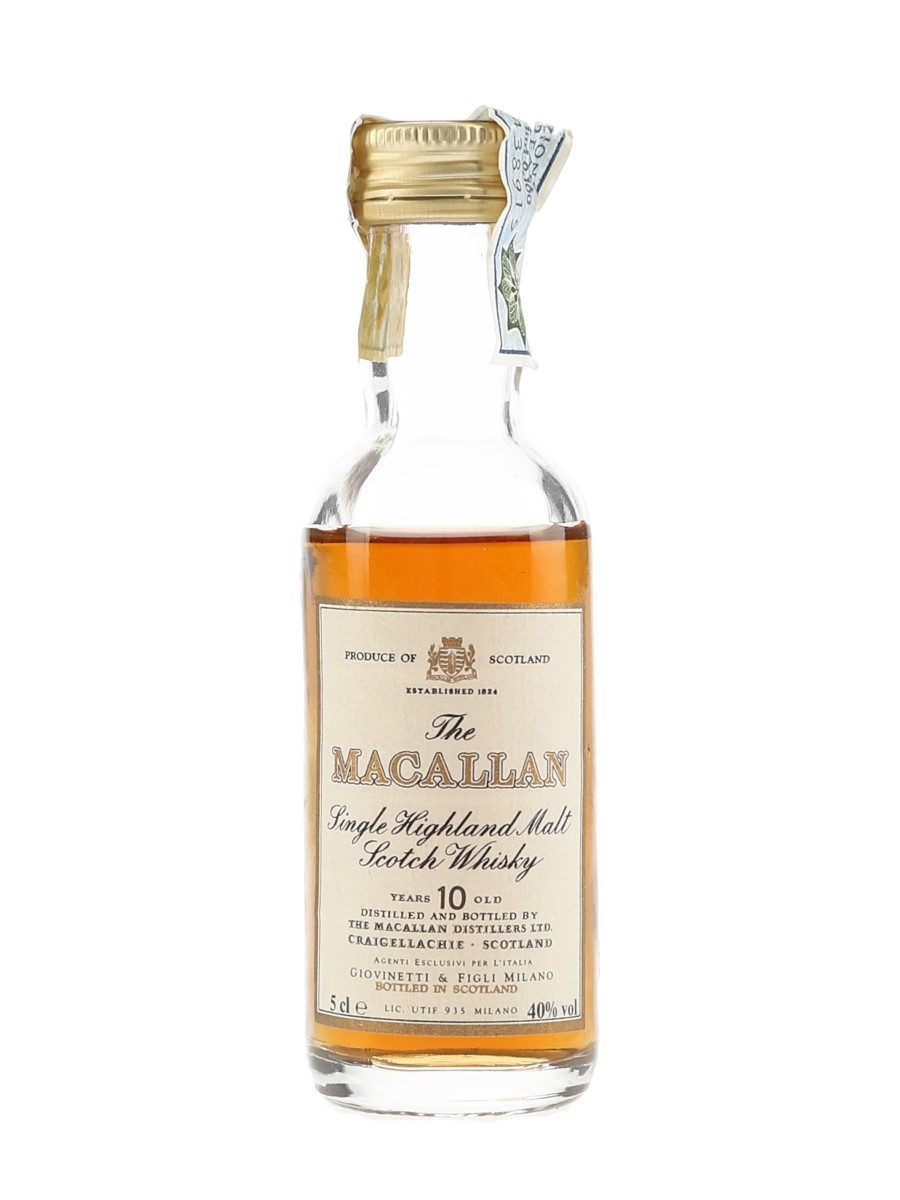 Macallan 10 Year Old Bottled 1980s - Giovinetti 5cl / 40%