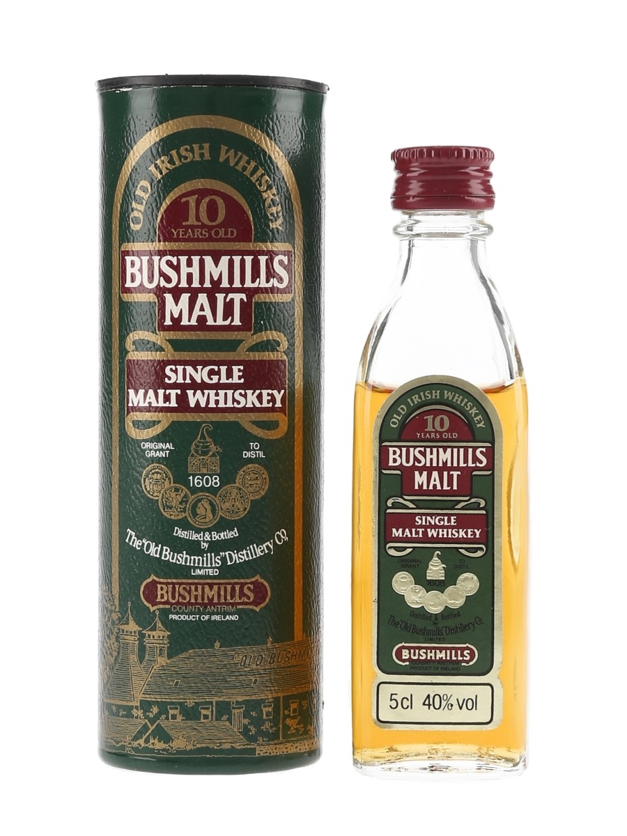 Bushmills 10 Year Old Bottled 1980s 5cl / 40%
