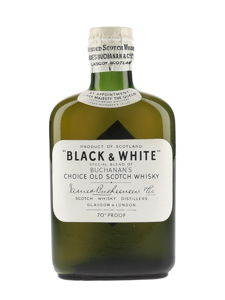 Buchanan's Black & White Spring Cap Bottled 1950s 20cl / 40%