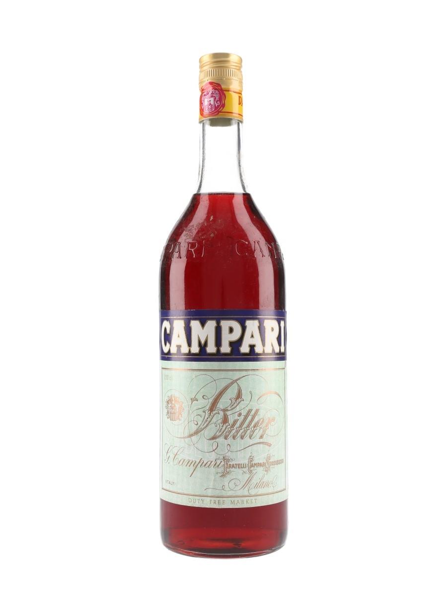 Campari Bitter Bottled 1980s-1990s - Duty Free 100cl