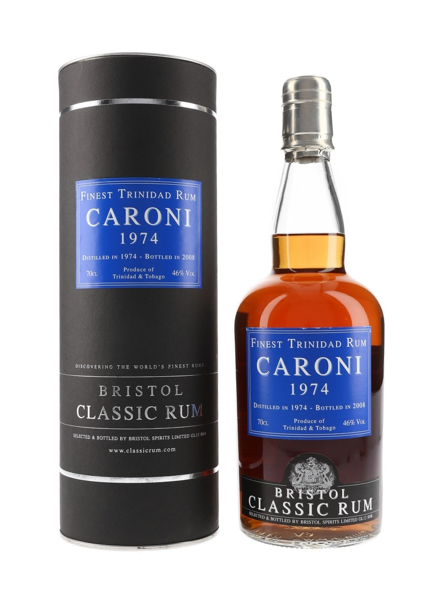 Caroni 1974 Finest Trinidad Rum Bottled 2008 - Bristol Spirits 70cl / 46%