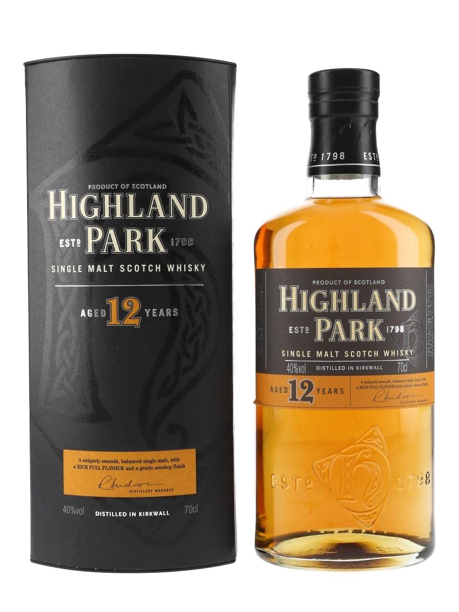 Highland Park 12 Year Old Bottled Pre-2012 70cl / 40%