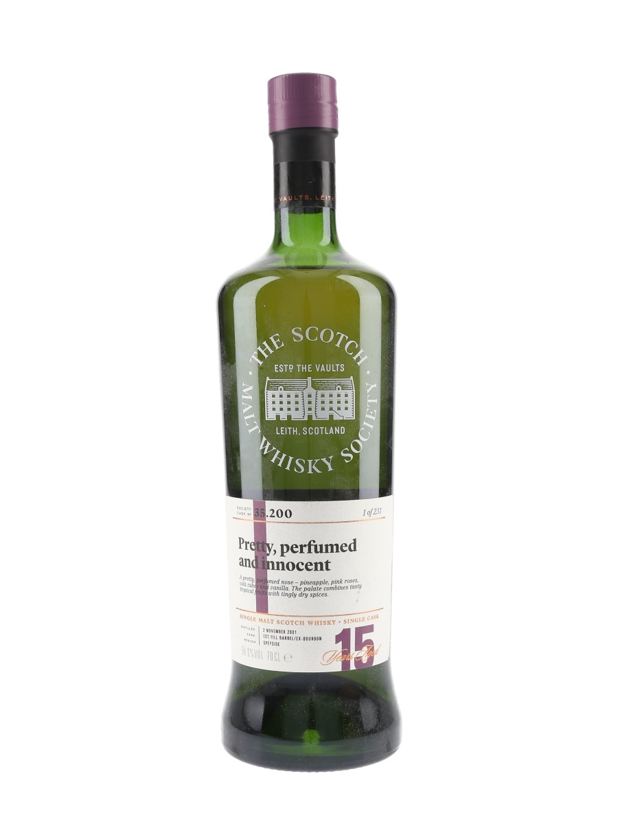 SMWS 35.200 Pretty, Perfumed And Innocent Glen Moray 2001 15 Year Old 70cl / 58.6%