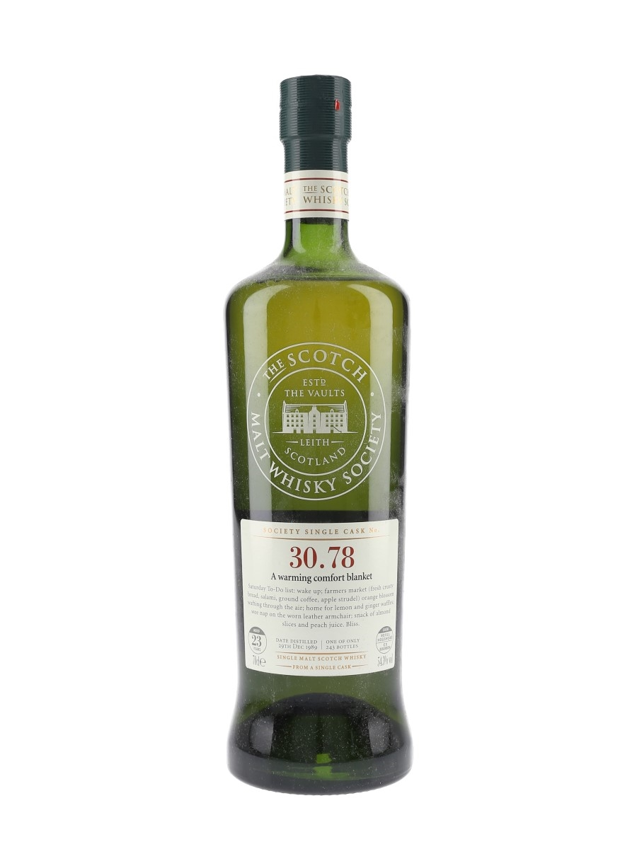SMWS 30.78 A Warming Comfort Blanket Glenrothes 1989 23 Year Old 70cl / 54.3%