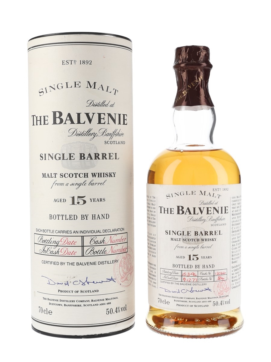 Balvenie 1977 15 Year Old Single Barrel 12046 Bottled 1994 70cl / 50.4%