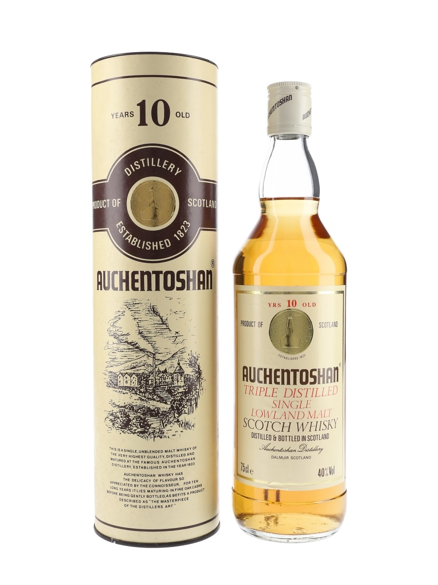 Auchentoshan 10 Year Old Bottled 1980s 75cl / 40%