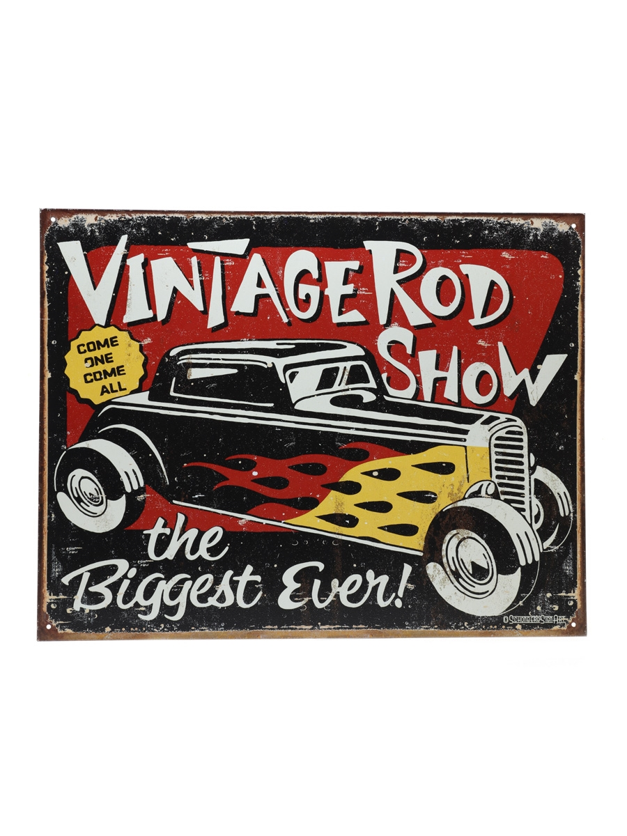 Sailor Jerry Vintage Hot Rod Sign Schonberg Sign Art 32cm x 41cm